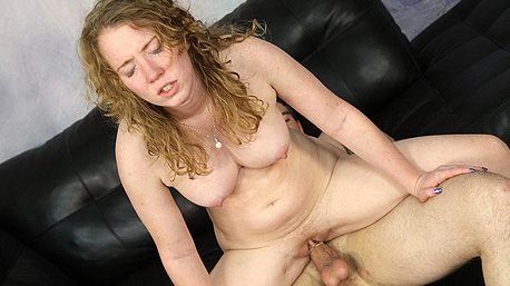 Nicki Blue Fucking A Cock on the Sofa